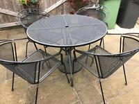 Kettler Outdoor Table & 4 chairs good condition
