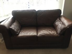 Leather 2+3 seater sofas