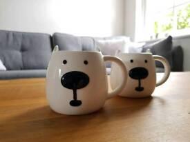 John Lewis Polar Bear mugs