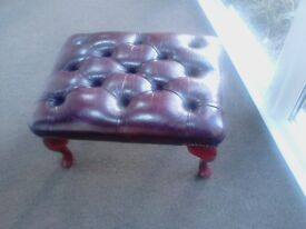 leather chesterfield footstool