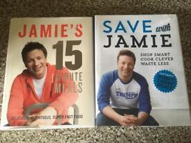 2 hardback Jamie Oliver books