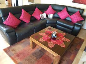 Harveys Vittoria Leather Corner Sofa .