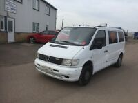 LEFT HAND DRIVE MERCEDES BENZ VITO, DRIVES WELL,GOOD LOAD SPACE,ENGINE & MECHANICS,PAPER SORTED.CALL