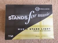 K&M Konig & Meyer music stand light - Model 12255 - UK Plug - RRP £24.99
