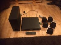 PHILLIPS DVD HOME THEATER SYSTEM HTS 3020 SUB WOOFER 5 SPEAKERS Awesome sound SLIMLINE DVD VIDEO