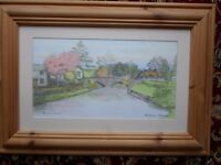 "SUPERB ORIGINAL HAND-COLOURED PRINT EARDISLAND BY FRANKHAM-GONNELLA 22""x16"" PINE FRAME PICTURE"