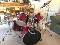 Pearl Export Series Drum Kit (5-piece) *Excellent condition* with accessories
