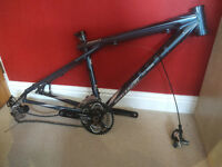 Avalanche gt mtb frame with parts