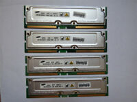 4 x Samsung MR16R1628AFO-CM8 256MB PC800-40 800MHz RAMBUS RDRAM Memory