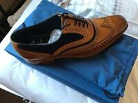 Barkers Tan & Suede inlay brogues BRAND NEW