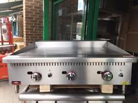 QUALITY CATERING COMMERCIAL NEW GAS FLAT GRILL 90CM CAFE KEBAB CHICKEN FAST FOOD RESTAURANT KITCHEN