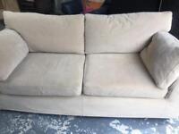 Next 2 seater cream fabric sofa