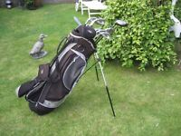HIPPO LEFT HAND GOLF CLUBS IN BAG WITH STAND