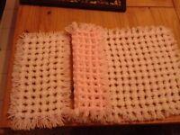 dolls pompom blanket and pillow topper