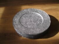 Silver Glass Table-mats