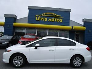 2012 Honda Civic LX BLANC FULL ÉQUIPE BLUETHOOTH 91600 KM !
