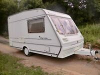 Abbey Chorus light weight 2 berth touring caravan 1998 with Awning, great condition