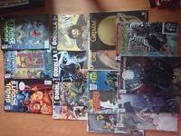 Joblot comics including Grimm, Godzilla, Dungeons and Dragons, Joe Frankenstein, Ghoul Scouts