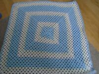 New hand made crochet baby blanket approx 27 inches square