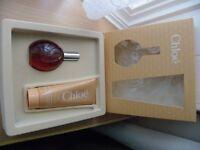 New Lagerfeld Chloe Perfume 50ml & Body Lotion Set in Box