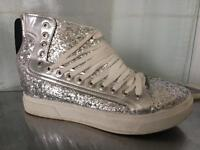 Fashion glitter ankle trainer boot