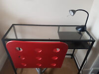 Desk, Chair and Lamp for sale