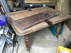Antique extending dining or kitchen table