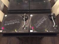 2 x Technics SL1210 SL 1210 Mk5 Very Good Condition DJ Deck Turntables