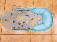 Summer baby bath seat and baby bath,plus free bath ring