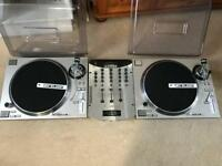 Reloop rp7000 turntables and numark mixer decks technics dj