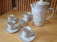 Denby Dauphine Coffee Tea Set (9 Pieces) In Good Condition