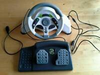 Micro Con Steering Wheel n Peddle xbox 360