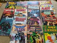 30 x RARE COMICS MAGAZINES - MARVEL, DC, ETC