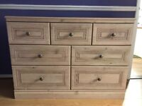 Wooden chest of draws