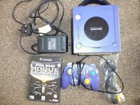 Nintendo Gamecube With Star Wars Rogue Leader