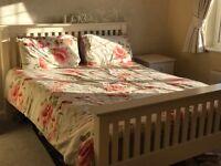 Julian Bowan Kingsize bed frame, Two bedside units, Chest of draws & mirror