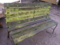 Old wooden garden bench