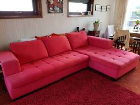 Corner sofa with large storage chest