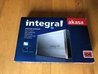 AKASA Integral USB 2.0 External Enclosure for 2.5 inch IDE Hard Drive