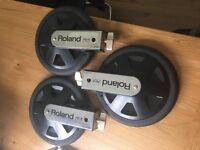 3 X ROLAND PD-8 DUAL TRIGGER PADS