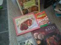 Recipe Books X 5 bundle for £1.50 cook books Vegetarian, MasterChef, Balti