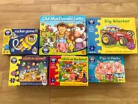 Orchard toys bundle, jigsaw puzzle, lotto, matching games