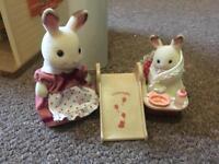 Sylvanian Mummy & Baby Rabbit Set