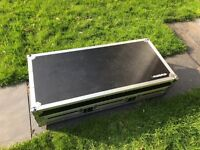 CDJ 2000 DJM 900 Flight Case Coffin Case With Laptop Stand Magma