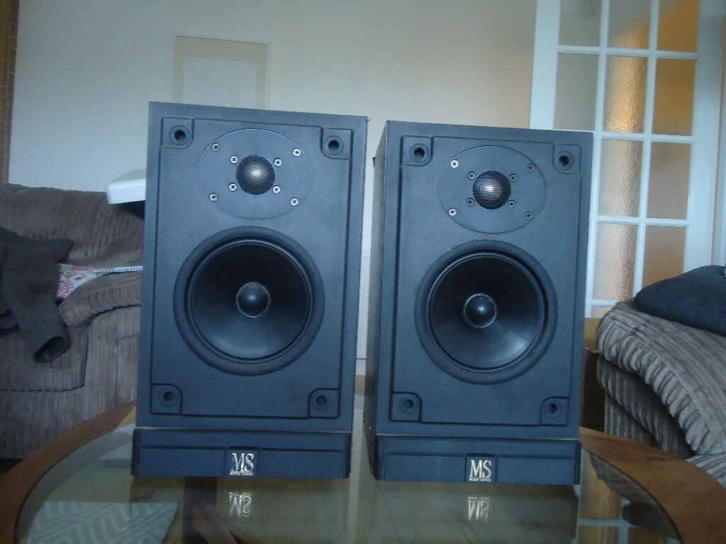 Mordaunt Short MS20i Speakers Pearl Edition with stands and cable ...