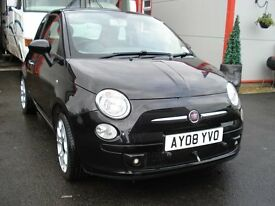Fiat 500 sport with New braked tow a car A Frame