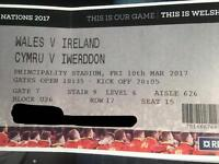 Wales vs Ireland 4 Tickets sat together