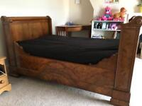 Antique Wooden Sleigh Bed double