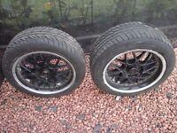 Split rim wheels and tyres