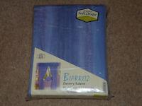 Blue pencil pleat curtains